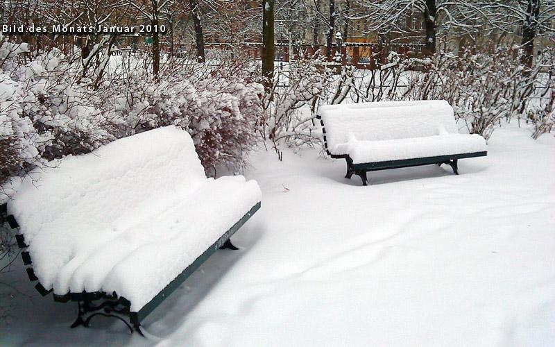 Winterstimmung am Neujahrsmorgen auf dem Arkonaplatz in Berlin-Mitte