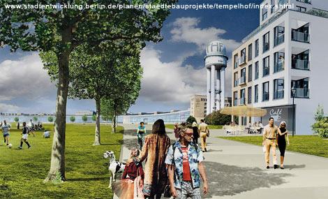Fotomontage Flughafen Tempelhof